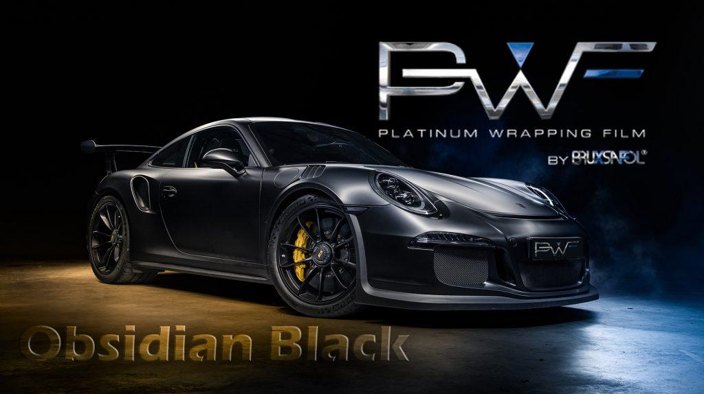 Obsidian Black PWF Autofolierung Car-Wrapping Folienfactory