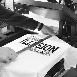Textildruck Textilbeschriftung Flexdruck Flock
